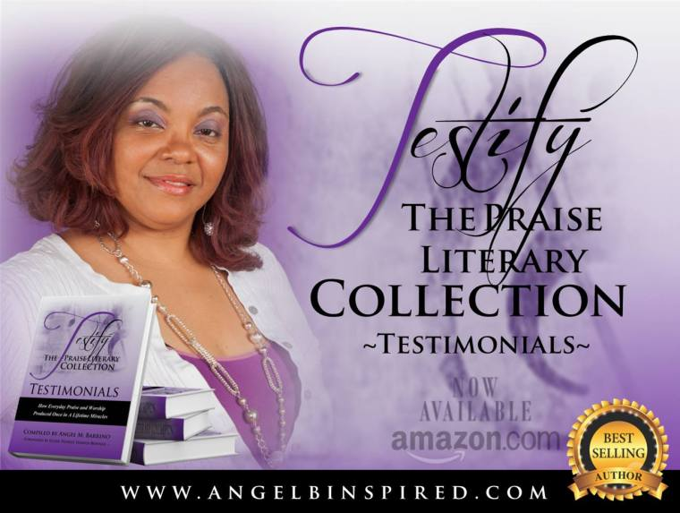 Testify Praise Literary Best Seller Emblem